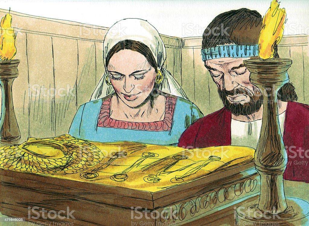 Gideon--Israelites Worship New Idol stock photo
