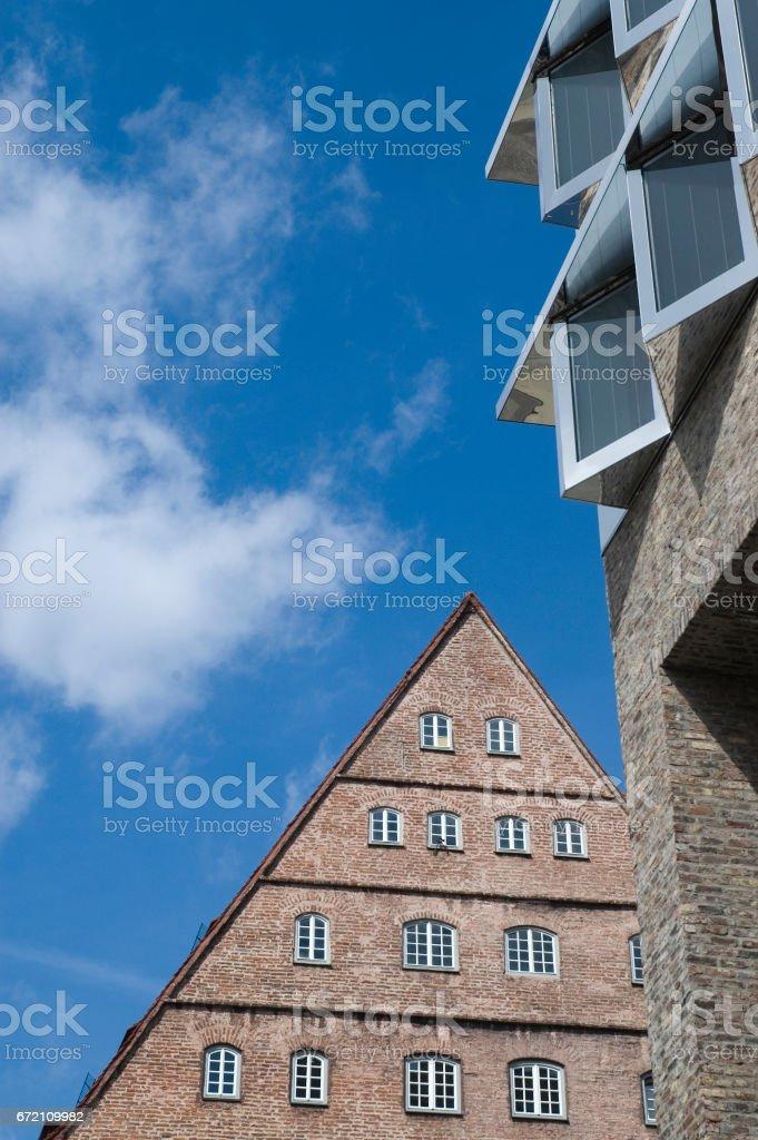 Giebel und Fassadendetail stock photo