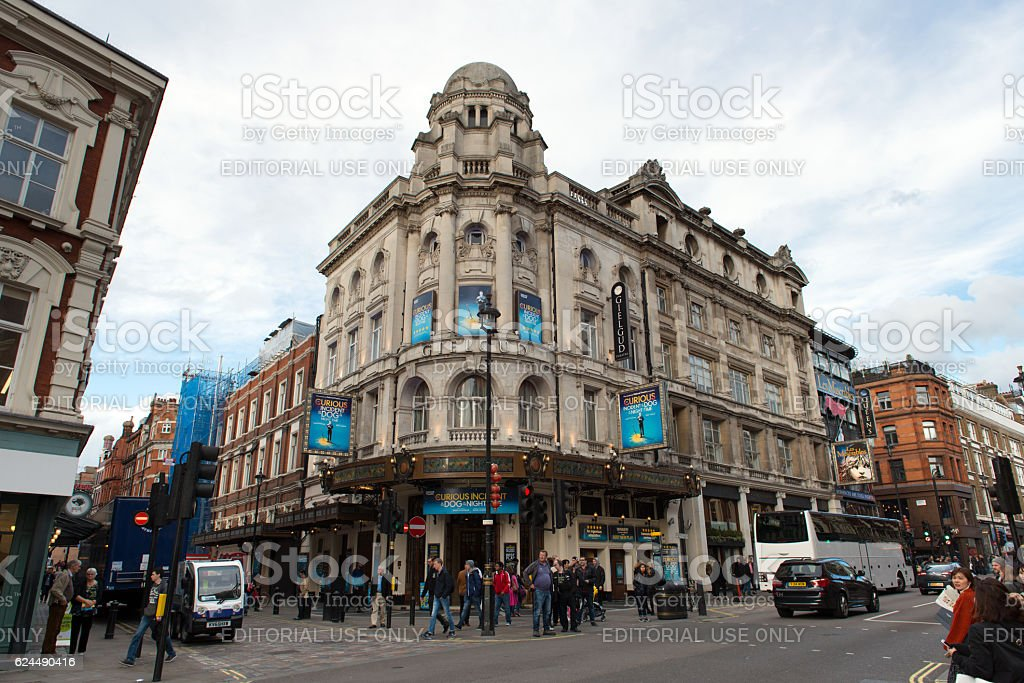 Gielgud theater at Rupert Street in London stock photo
