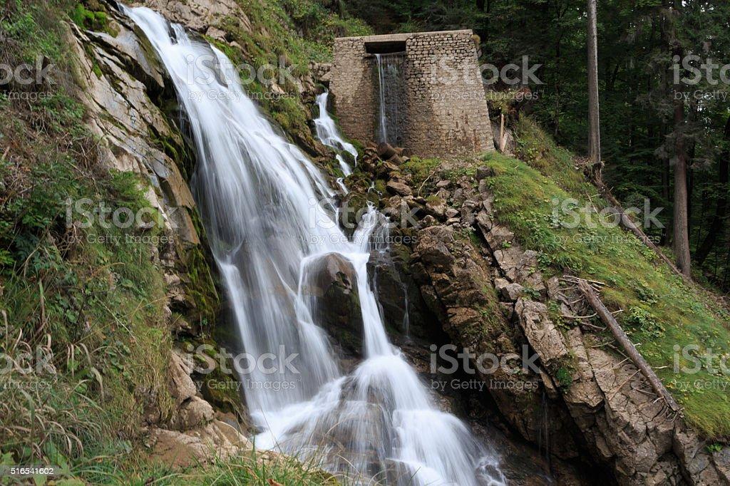 Giessbach Falls in Switzerland stock photo