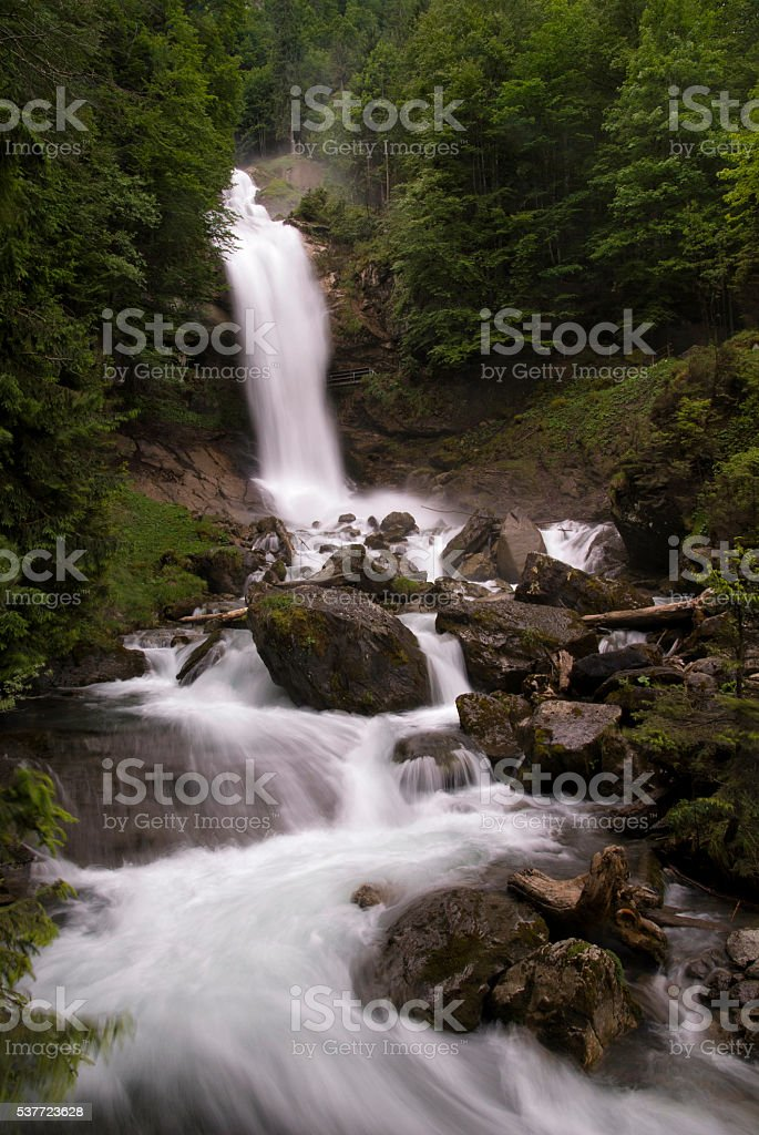 Giessbach falls stock photo