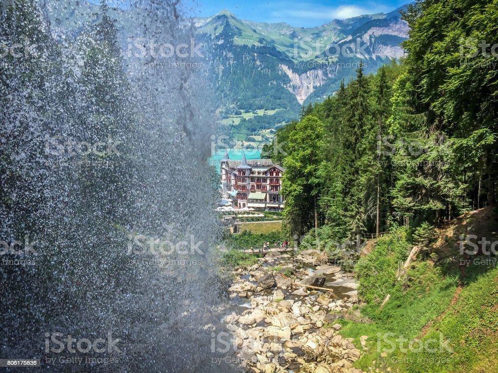 Giessbach Wasserfalle stock photo