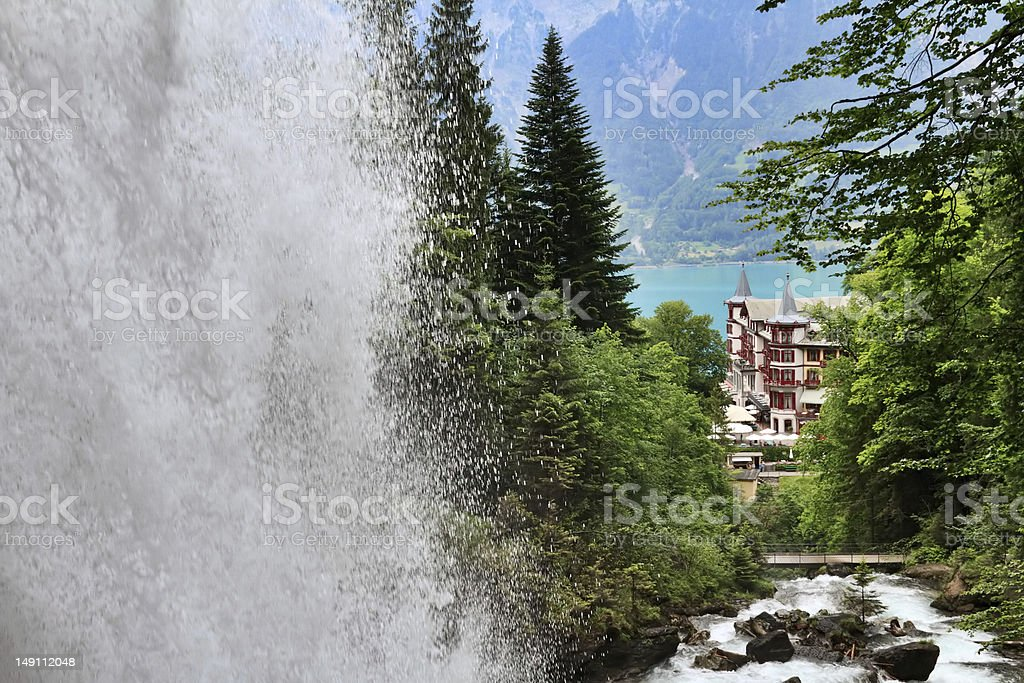 Giessbach waterfall royalty-free stock photo