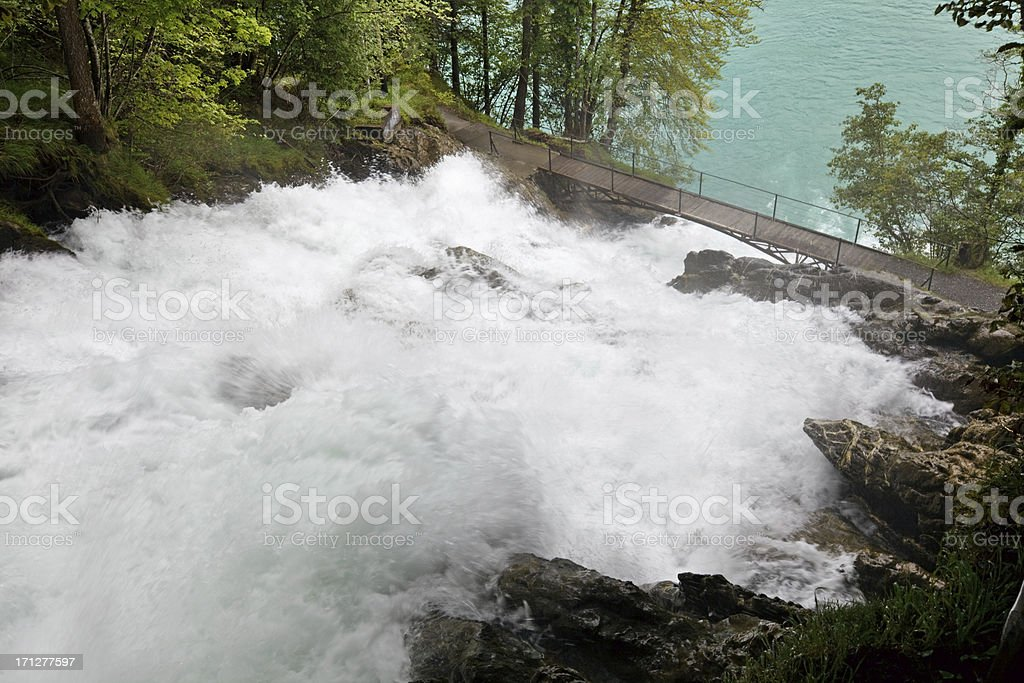 Giessbach Waterfall, Switzerland stock photo