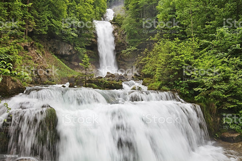 Giessbach Waterfall, Switzerland royalty-free stock photo