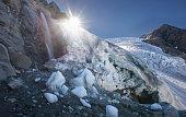 Gietro glacier in the summer.