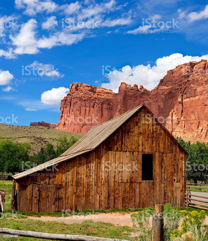Gifford Barn Capitol Reef National Park stock photo