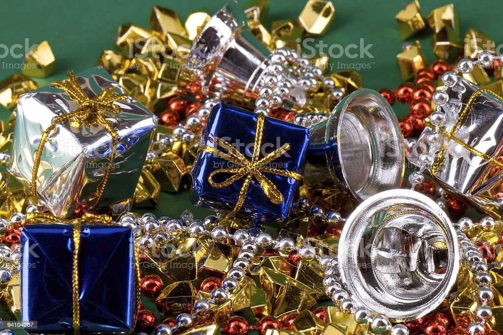 Gift and gold stones royalty-free stock photo