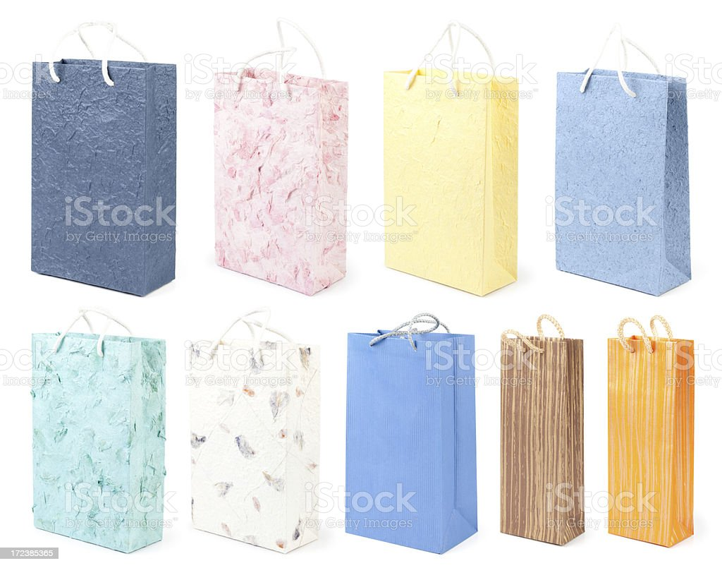 Gift bag collection royalty-free stock photo