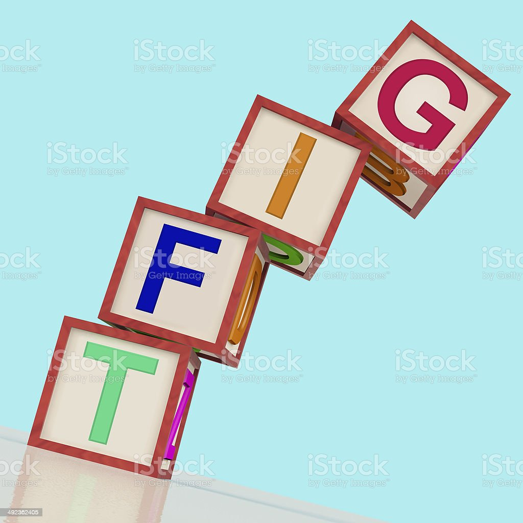 Gift Blocks Mean Present Contribution Or Giving stock photo