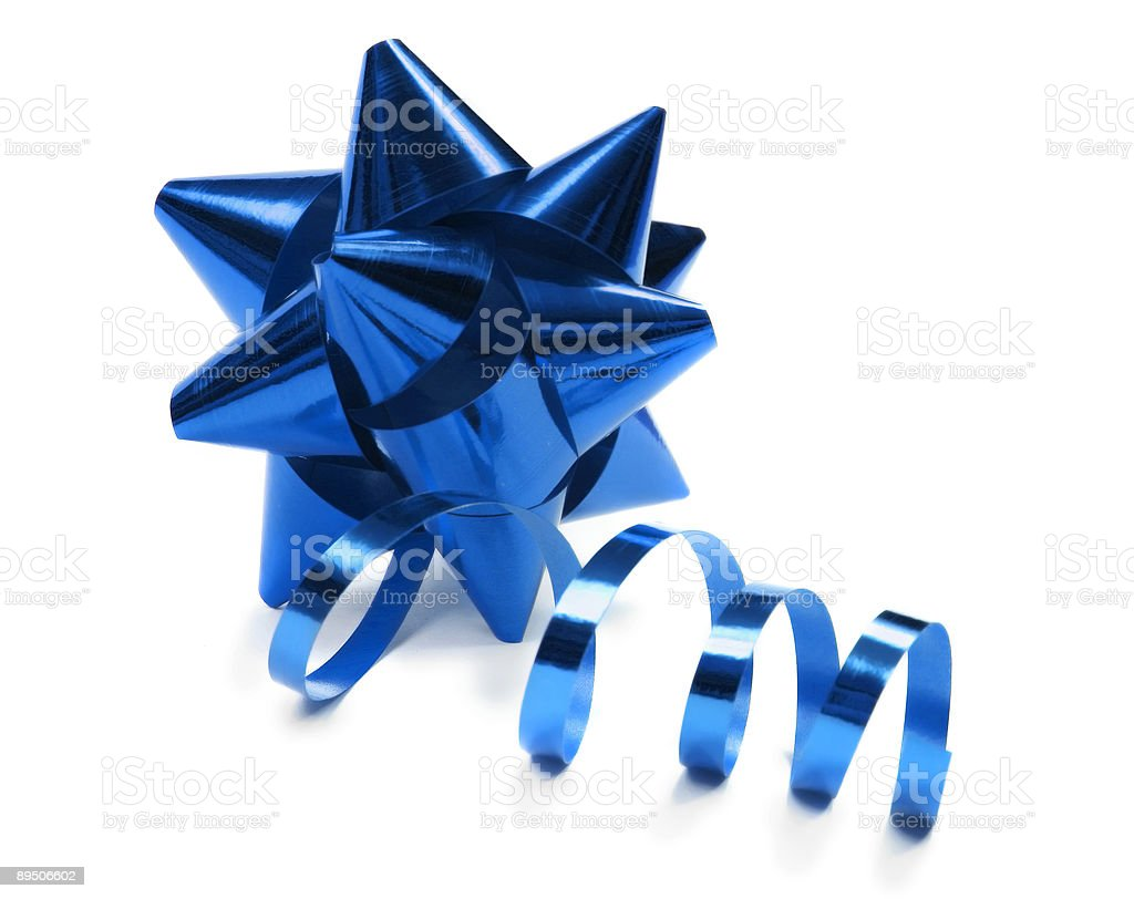 gift bow isolated on white stock photo