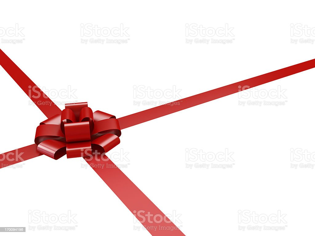 Gift Bow with clipping path royalty-free stock photo