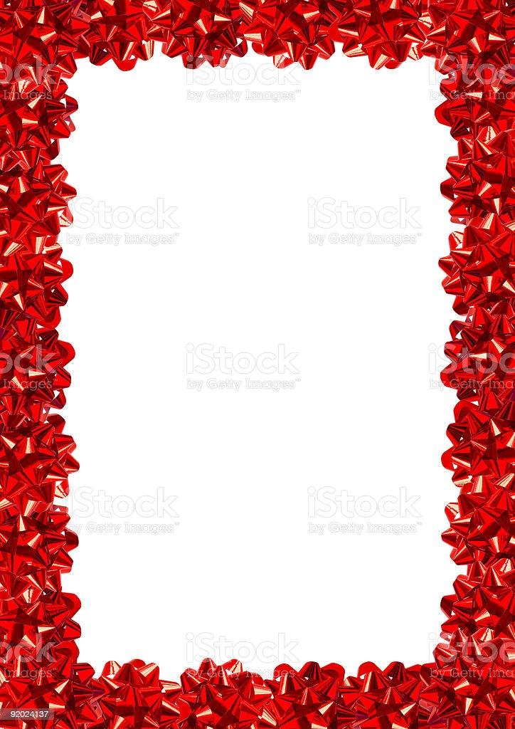 Gift Bows Border (+clipping path, XXL) royalty-free stock photo