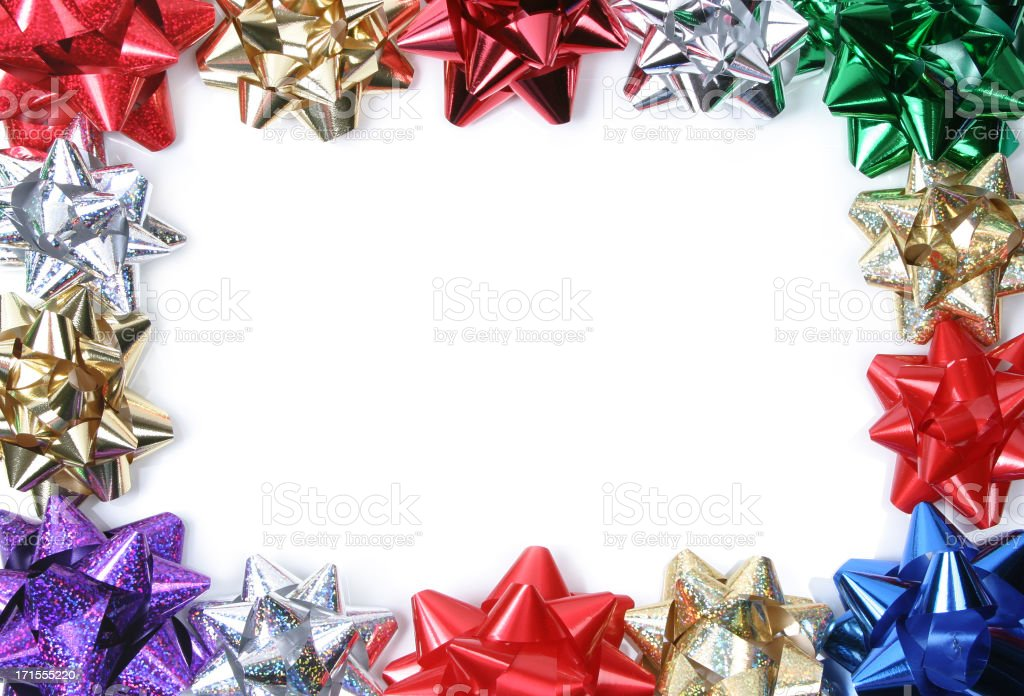 Gift Bows Series ( Frame isolated on white) royalty-free stock photo