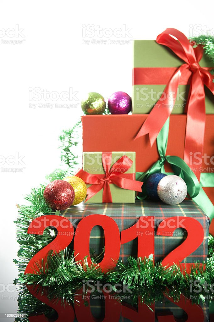 Gift Box and 2012 stock photo