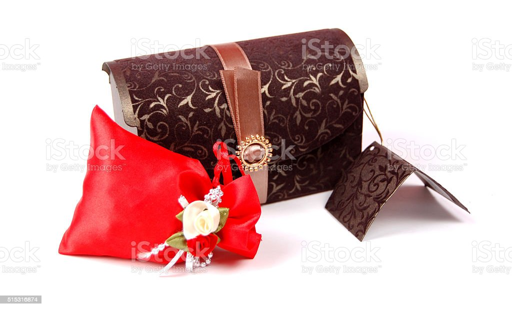 Gift box and bag stock photo