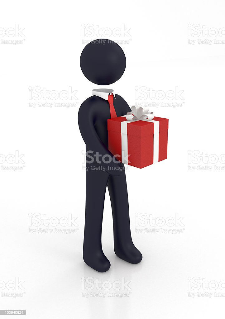 Gift Box Delivery royalty-free stock photo