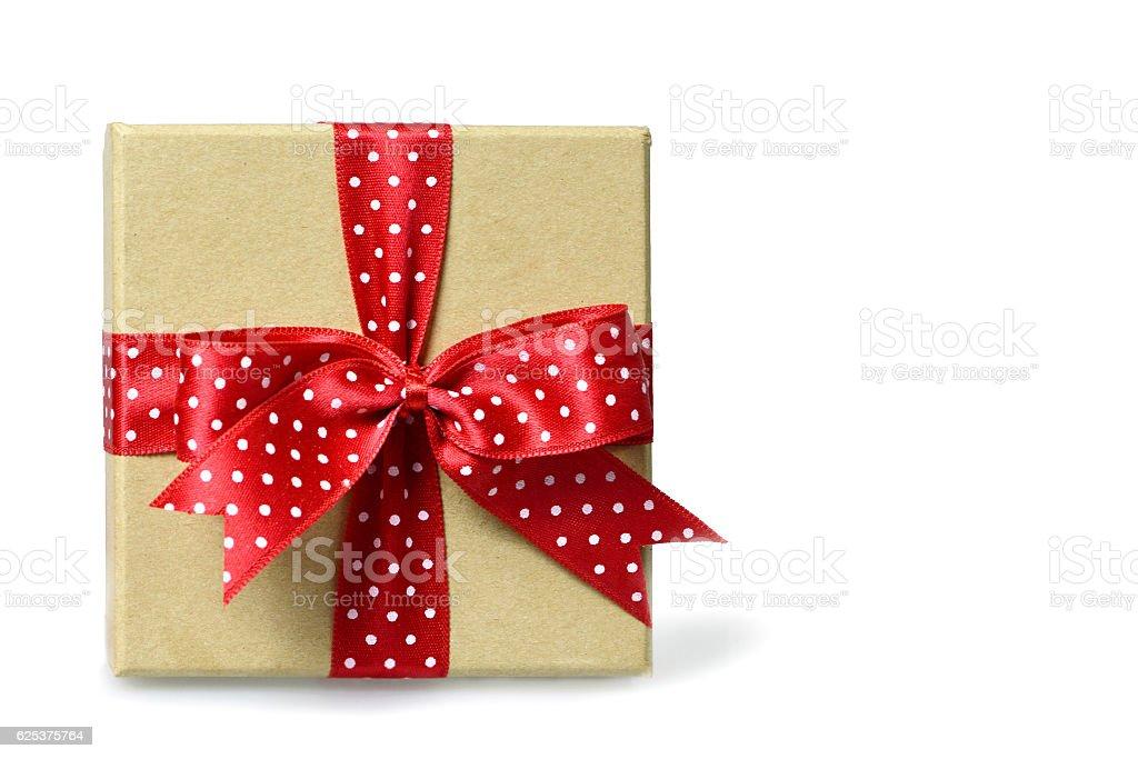 Gift box isolated on white background stock photo
