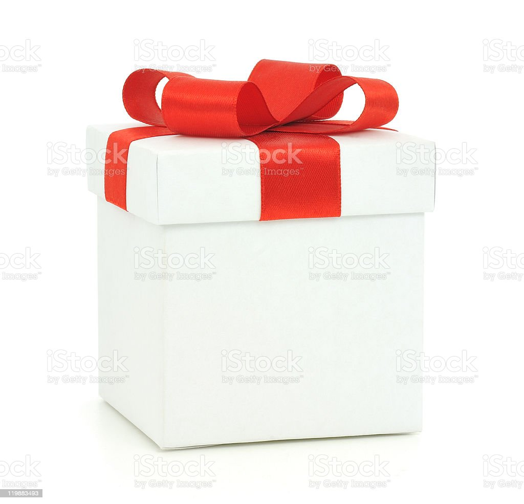 Gift box isolated stock photo