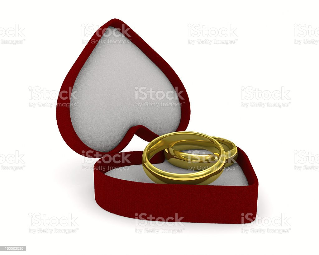 gift box on white background. Isolated 3D image royalty-free stock photo