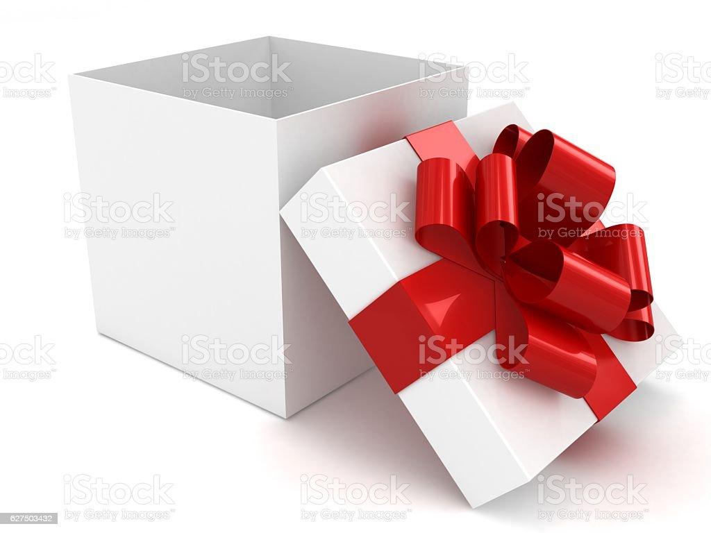 Gift box open stock photo