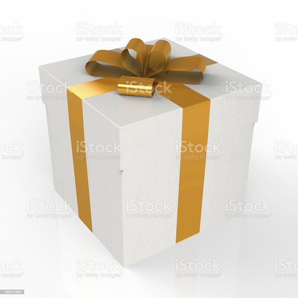 gift box over white backround royalty-free stock photo
