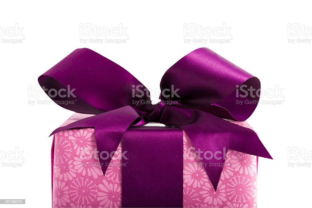 Gift Box (Clipping Path) royalty-free stock photo