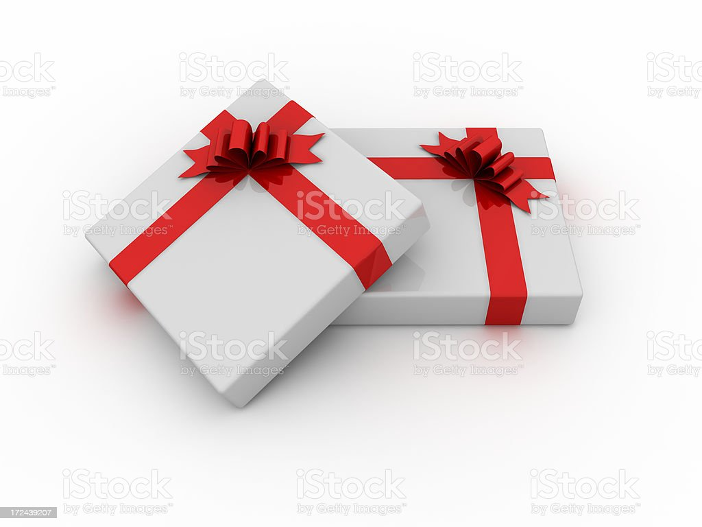Gift Box (with clipping path) royalty-free stock photo