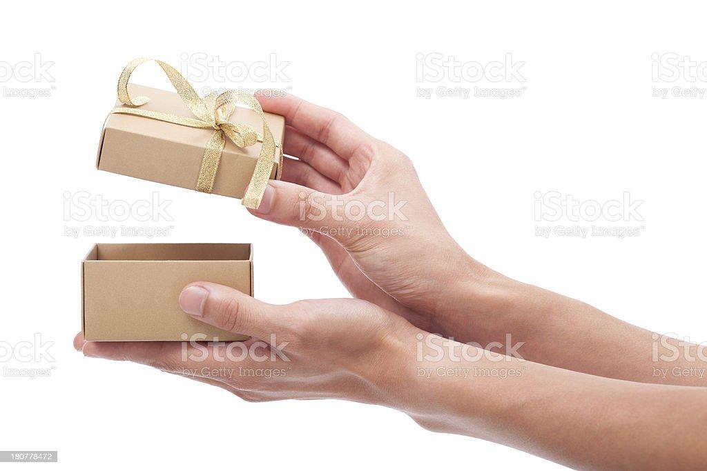 Gift box royalty-free stock photo