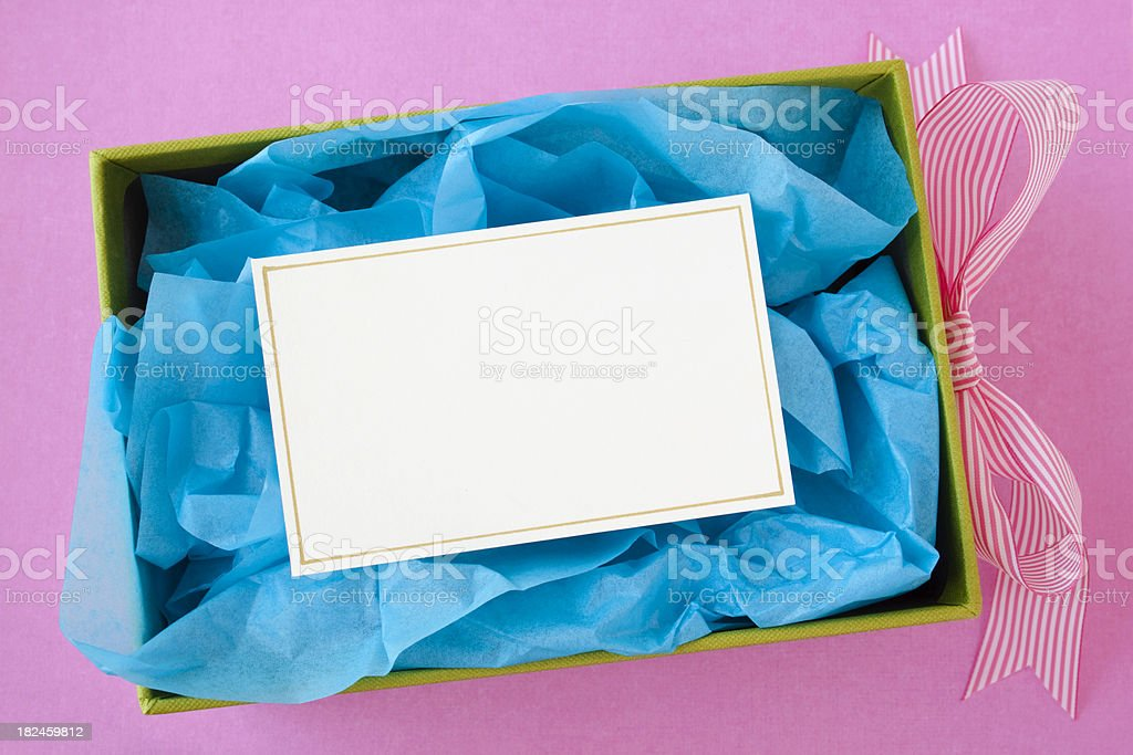 Gift box. royalty-free stock photo