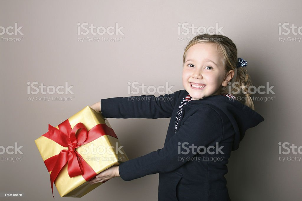 Gift Box Receiving royalty-free stock photo