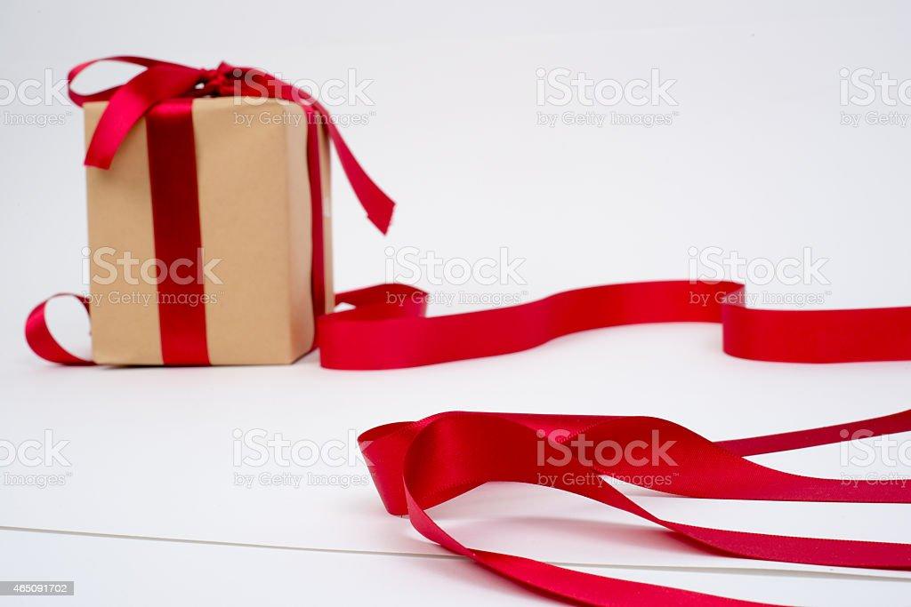Pudełko na prezent & wstążka zbiór zdjęć royalty-free