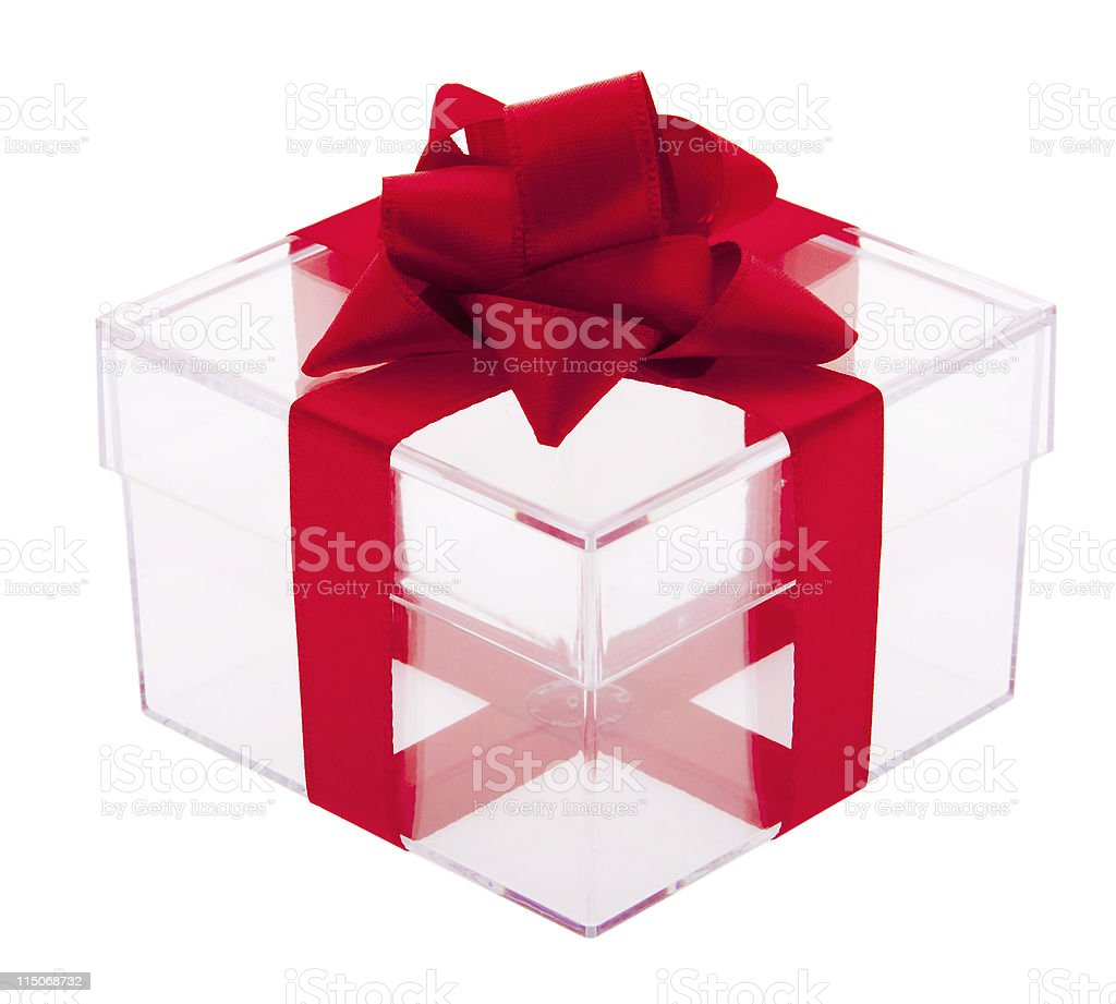 Gift box transparent royalty-free stock photo