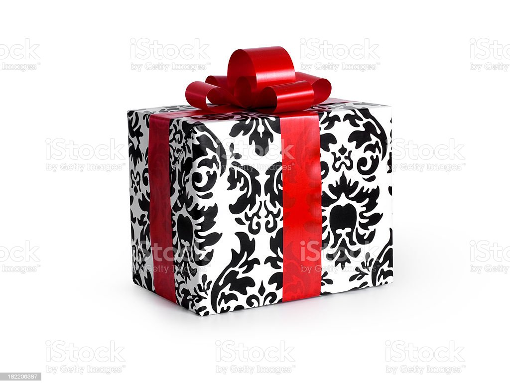 Gift Box w/clipping path royalty-free stock photo