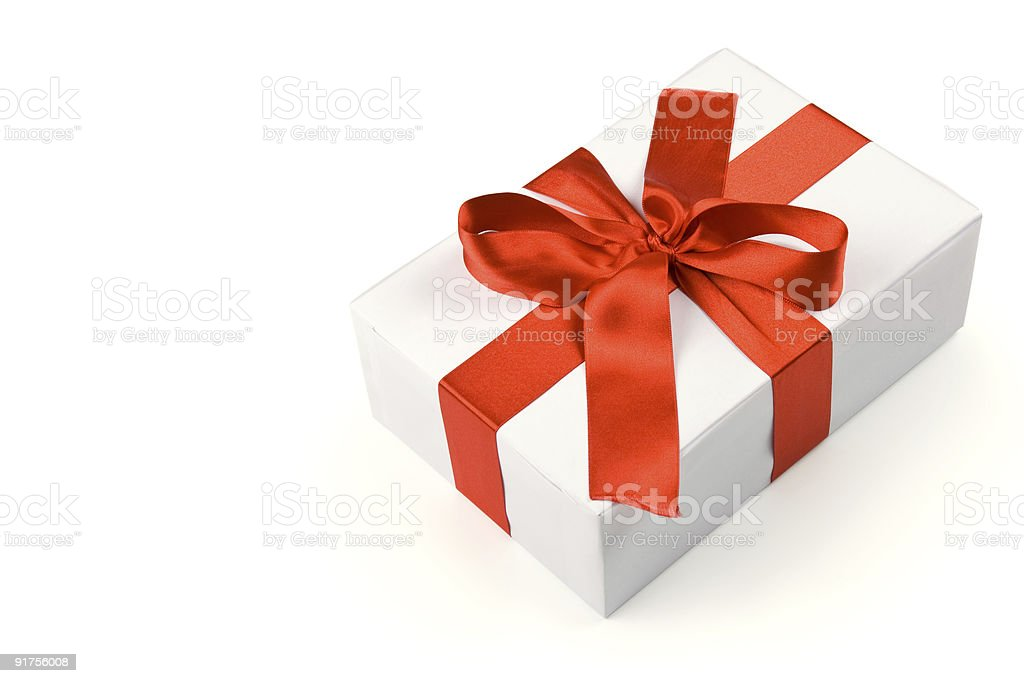 Gift box with clipping path royalty-free stock photo