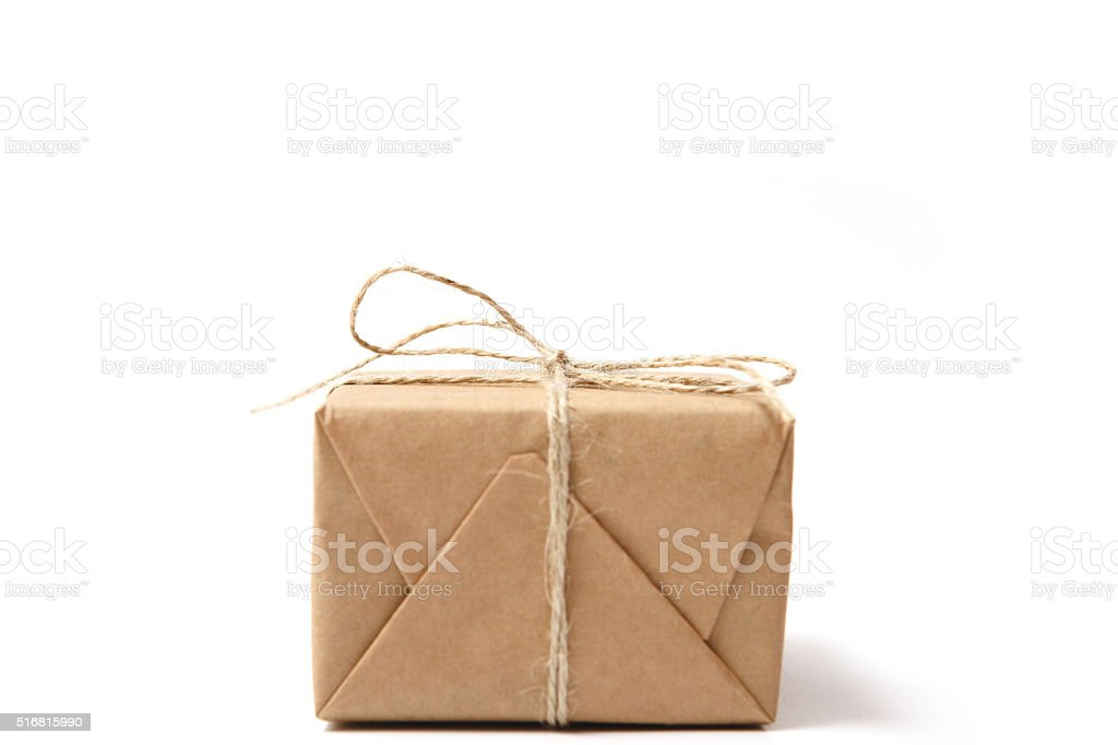 Gift box with white background stock photo