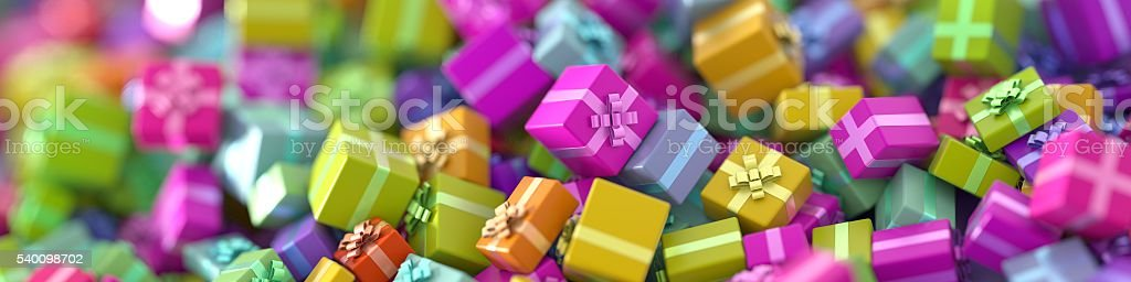 Gift boxes background stock photo