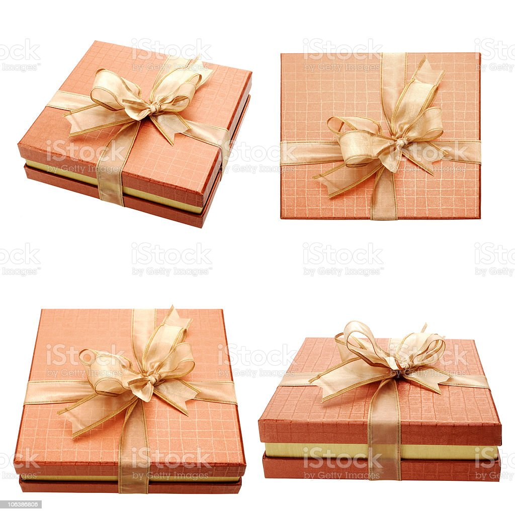 gift boxes over white royalty-free stock photo