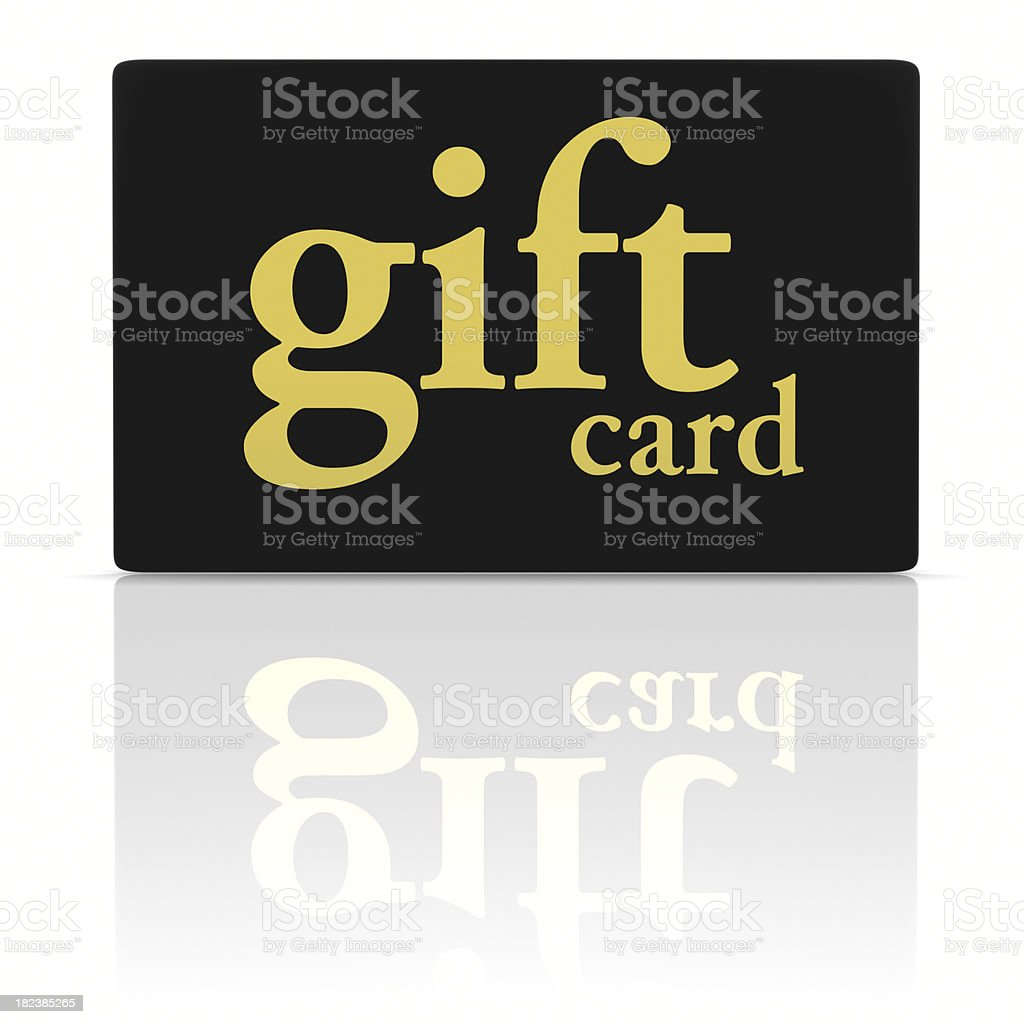 Gift Card Black Gold stock photo