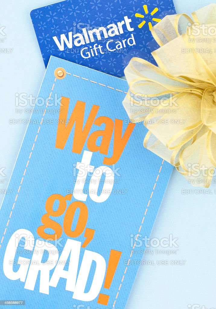 Gift Card for Grad stock photo