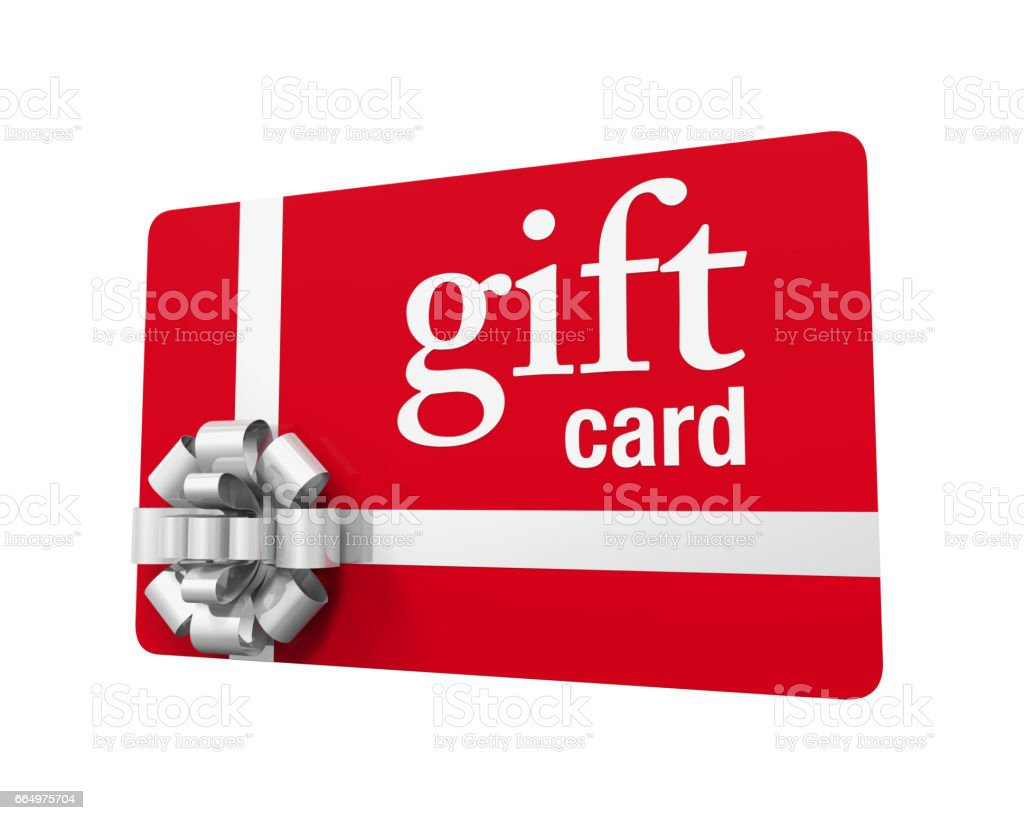Gift Card Isolated stock photo
