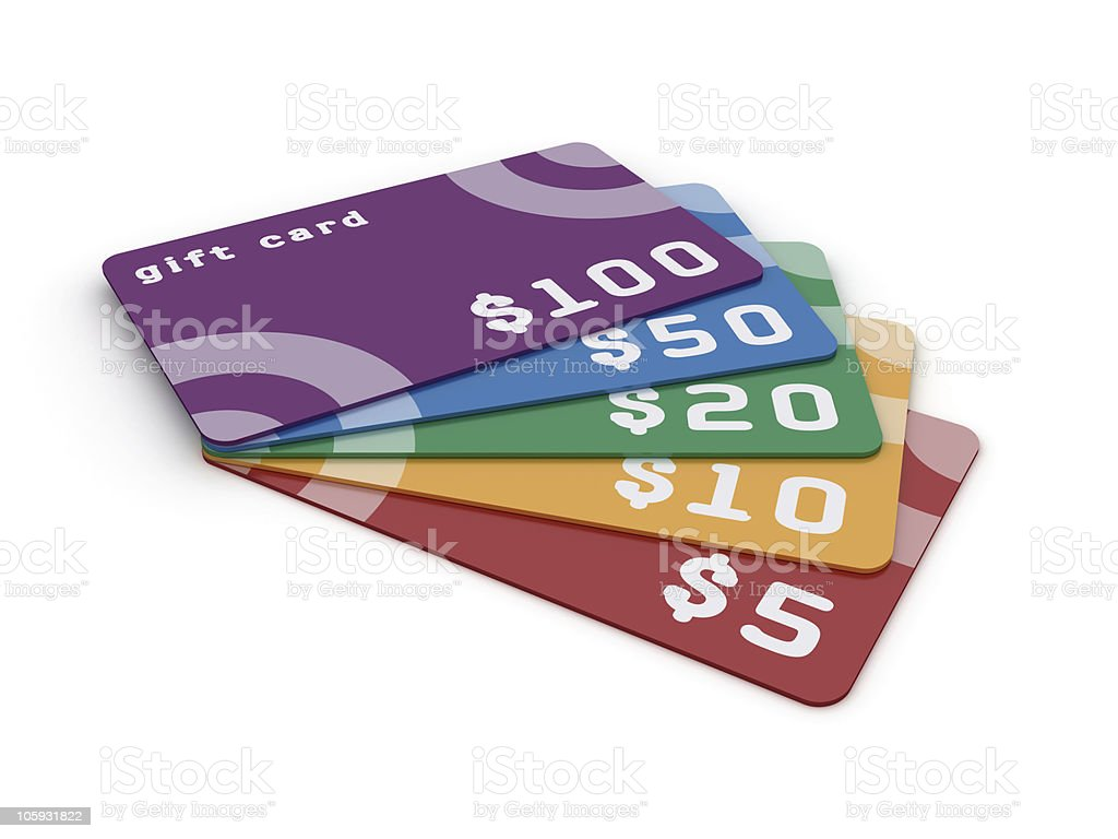 Gift cards. stock photo