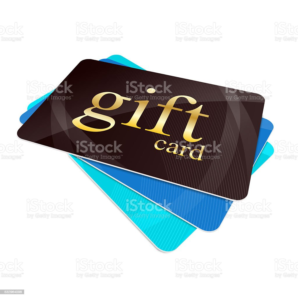 Gift cards stock photo