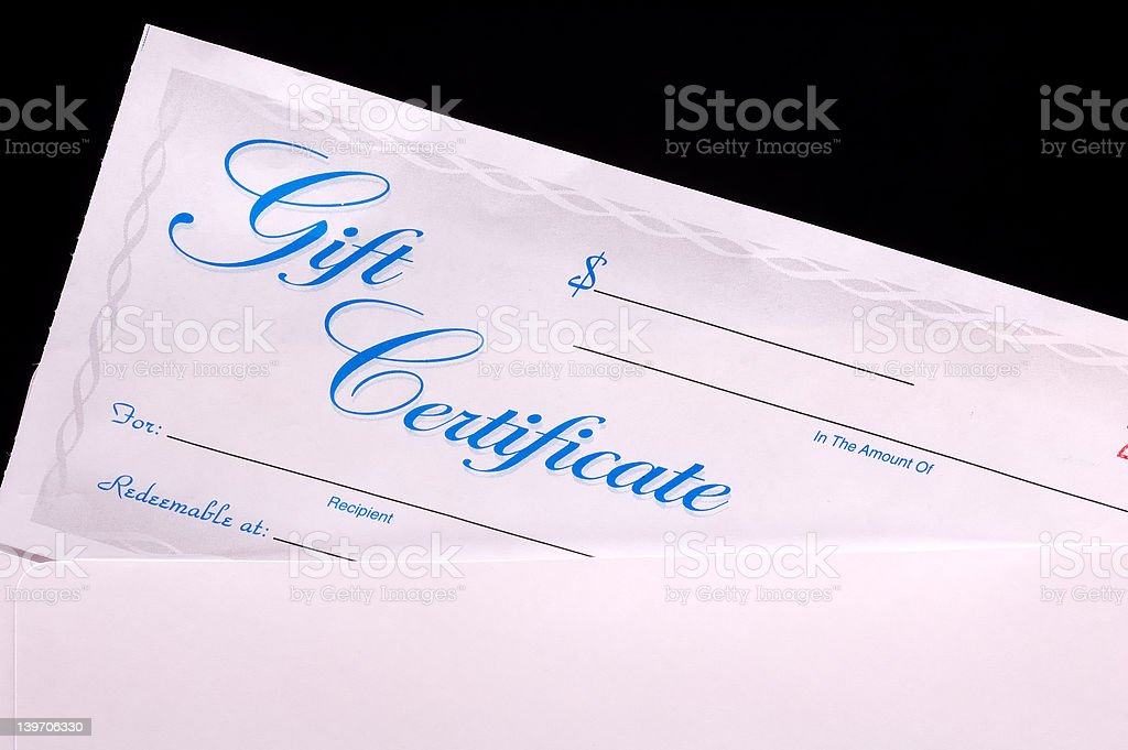 Gift Certificate royalty-free stock photo
