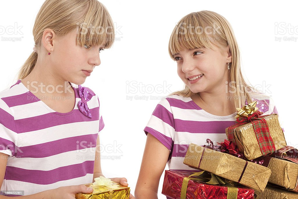 Gift Comparison stock photo