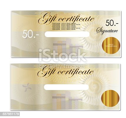 Gift Coupon Gift Voucher Bottom Blank To Fill In Any Program Stock