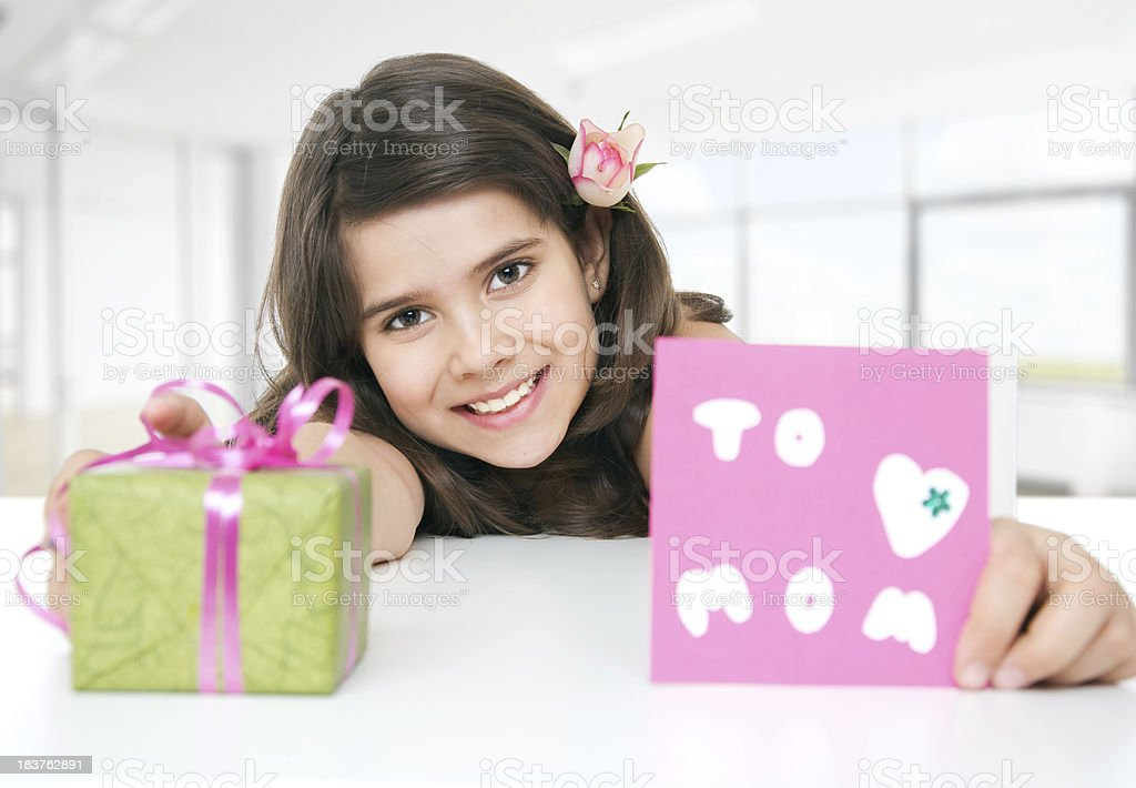 Gift for mom. royalty-free stock photo