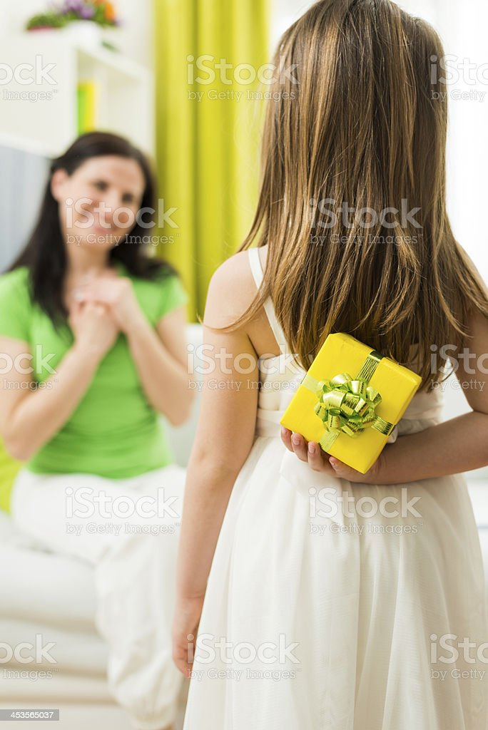 Gift for mother royalty-free stock photo