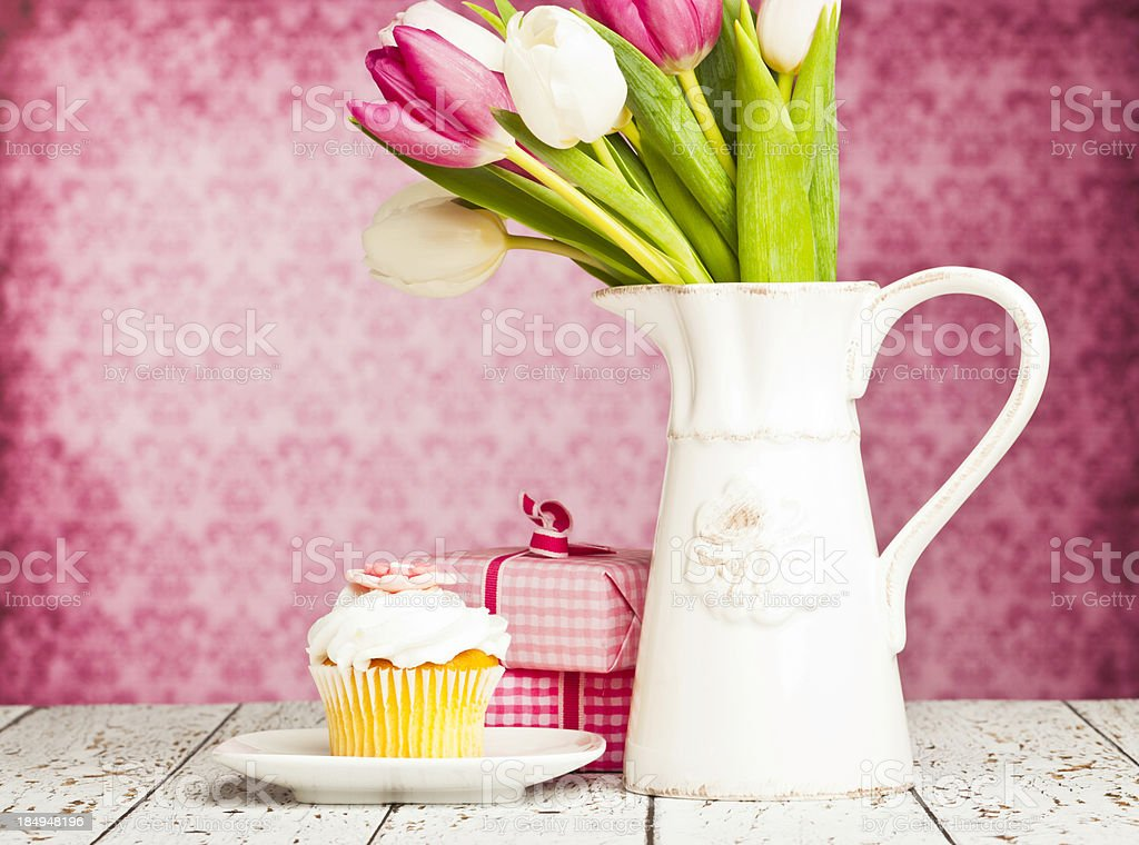 Gift for Mother's Day or Birthday royalty-free stock photo
