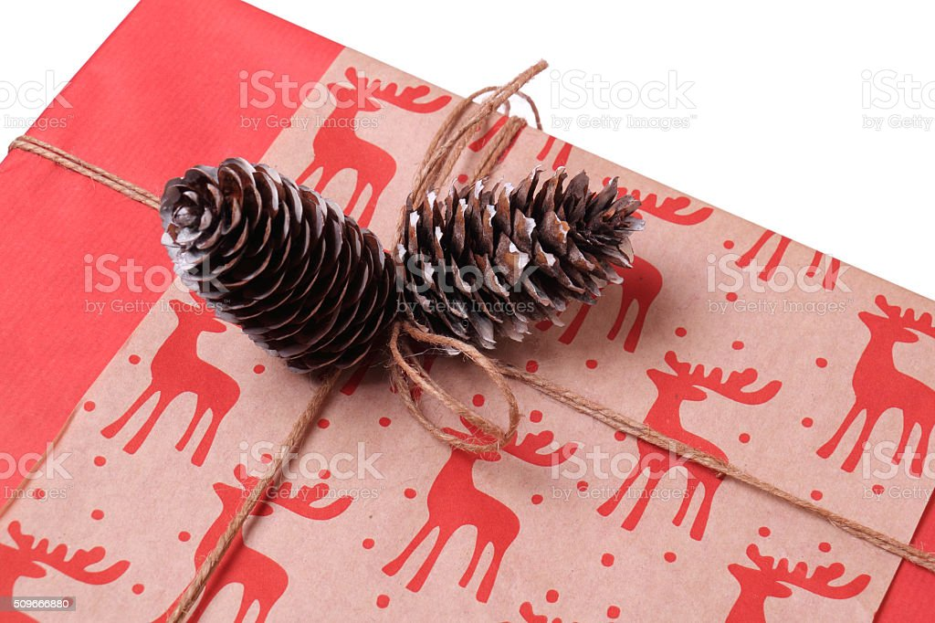 Gift for the New Year and Christmas. stock photo